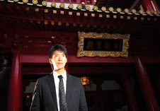 Free Asian Man In Temple Stock Images - 9410724