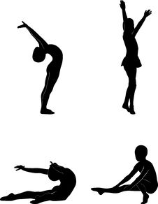 Free Sports Silhouettes Vector Royalty Free Stock Photography - 9410847
