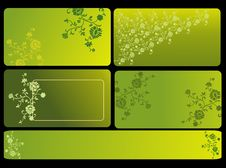 Free Abstract Vector Background Set Royalty Free Stock Images - 9411809