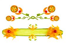 Decorative Elements For Food Banner Stock Photo