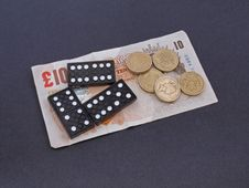 Free Gambling With Dominos. Stock Image - 9413271