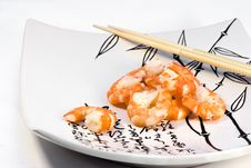 Free Shrimp And Chopsticks Royalty Free Stock Photography - 9414277