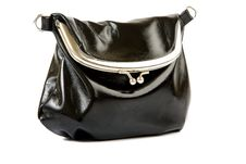 Black Leather Bag Stock Photos