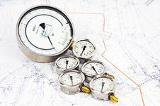 Free Manometer Pressure Water Royalty Free Stock Photo - 9414755