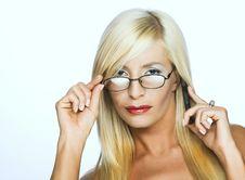Цoman In Glasses Stock Photos