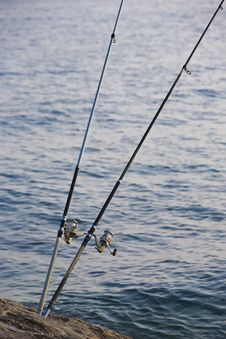 Free Fishing Rods Stock Photography - 9416022