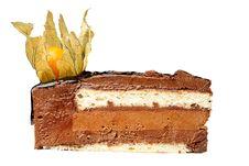 Free Chocolate Cake With Nut Stock Image - 9416181