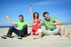 Free Fun On The Beach Stock Photos - 9416343