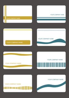Free Set Business Cards Royalty Free Stock Image - 9417736