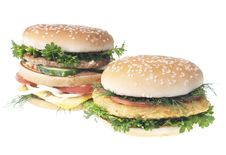 Hamburgers Stock Images
