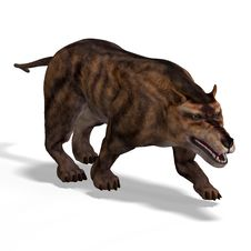 Free Dangerous Dinosaur Andrewsarchus With Clipping Royalty Free Stock Images - 9418719