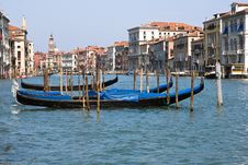 Free Venice Channel With  Gondolas Stock Photography - 9419412