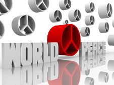 Free World Peace And Peace Signs Stock Images - 9419944