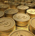 Free Stacked Coins Stock Photography - 9421602