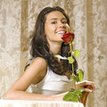 Free Girl With Rose Royalty Free Stock Images - 9427659
