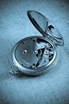 Free Old Watch Maschines Blue Royalty Free Stock Photo - 9420365