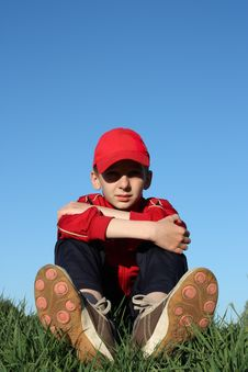Free Boy On Hill Royalty Free Stock Image - 9420606