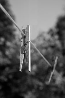 Free Clothes Peg Royalty Free Stock Photography - 9420957