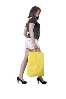 Yellow Bag Royalty Free Stock Photography