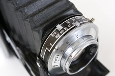 Free Lens Of Folding Camera Royalty Free Stock Image - 9422696