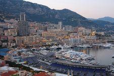 Free Monaco At Night Royalty Free Stock Image - 9423246