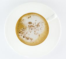 Cup Of Coffee, Latte Or Cappuccino Royalty Free Stock Image