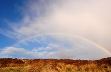 Free Rainbow Over The Heather Hill II Royalty Free Stock Photos - 9423398