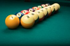 Free Billiard Balls In Numerical Order Stock Photography - 9423592