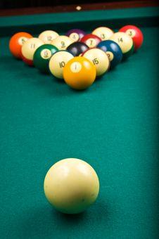 Free Billiard Balls Royalty Free Stock Photos - 9423628