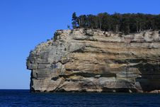 Free Pictured Rocks, Indian Head Rock Stock Photography - 9423982