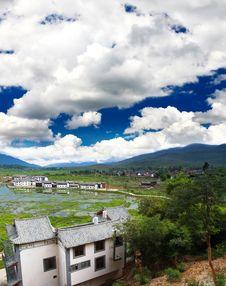 Scenery Landscape Near Lijiang City Royalty Free Stock Photo