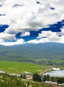Scenery Landscape Near Lijiang City Stock Image