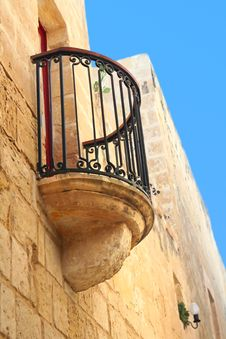 Free Balcony Of Old  Maltese House Stock Photo - 9424410