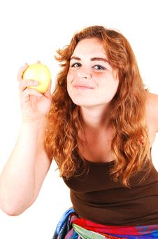 This Apple Is Good. Stock Photography