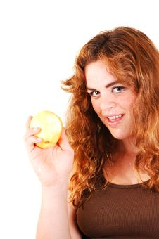 This Apple Is Good. Royalty Free Stock Images