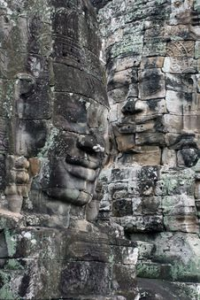 Free Faces Of Angkor Royalty Free Stock Photos - 9426668