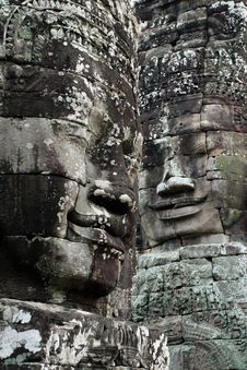 Free Faces Of Angkor Royalty Free Stock Photography - 9426677