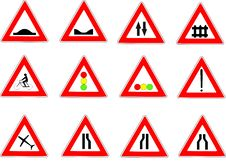 Free Traffic Signs Collection Of Danger Royalty Free Stock Images - 9426949