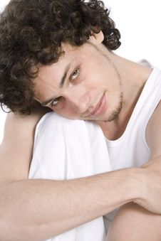Free Young Man Relaxing In White Stock Photo - 9427070
