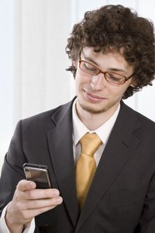 Free Business Man With Mobile Phone Royalty Free Stock Photo - 9427145