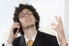 Free Business Man With Mobile Phone Royalty Free Stock Image - 9427166