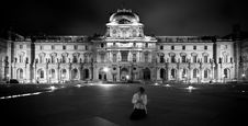 Free Louvre Detail At Night Royalty Free Stock Photo - 9427615