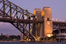 Free Harbour Bridge Pillars Royalty Free Stock Photos - 9428108