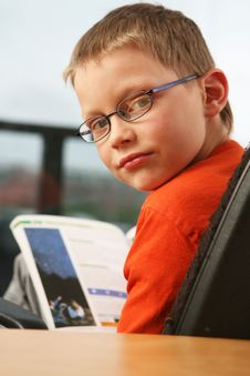 Free Boy Studying Royalty Free Stock Photo - 9428175