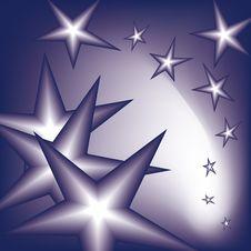 Falling Stars Stock Image