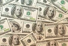 Free Dollars Background Royalty Free Stock Photos - 9428808