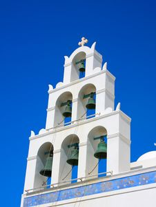 Free Santorini Church Bell Royalty Free Stock Image - 9429186
