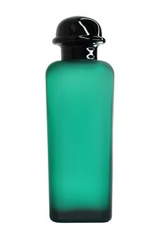 Green Perfume Bottle Royalty Free Stock Photography