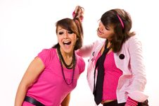 Free Two  Girls Teens Swears Royalty Free Stock Image - 9429416