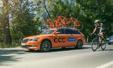 Free Cycling Race Support Vehicle, Tenczynek, Poland Stock Image - 94243591